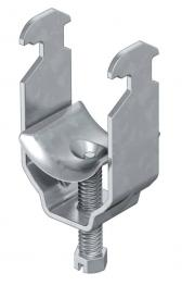 Clamp clips, profile rails and screw-in spacer clips