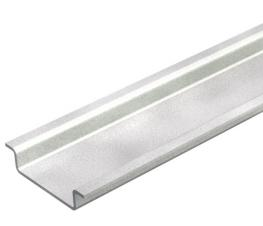 Hat profile rail, unperforated GTP