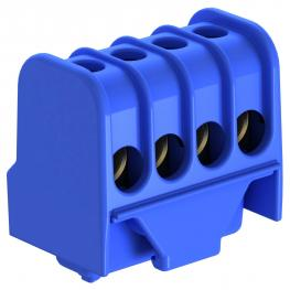 Neutral conductor terminal, with screw contacts, 4 terminals