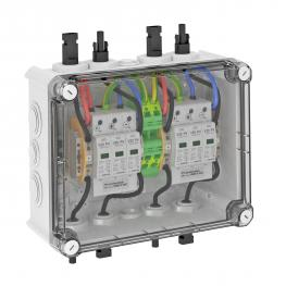 PV system solution, type 2, with MC4 connector for inverter with 2 MPP trackers, 1,000 V DC