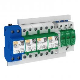 Protection set MCD + V20, leakage current-free, 3-pole + NPE with remote signalling