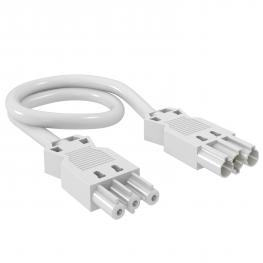3-wire connection cable, PVC, cross-section 1.5 mm², Cable length 3 m, white