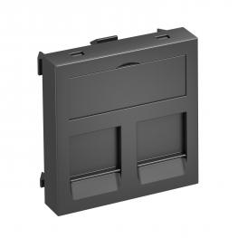 Data technology support, 1 module, straight outlet, type PA
