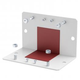 Lock plate for internal corner