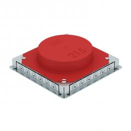 Underfloor box UDSR4 for installation pipe and metal duct