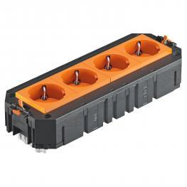 UTC4 with 4 protective contact sockets, orange