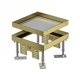 Height-adjustable cassette for inspection opening, RKN, brass