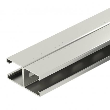 Mounting rail, MS4182, slot 22 mm, double, A2, perforated