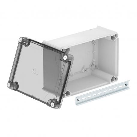 Junction box T350, closed, transparent elevated cover