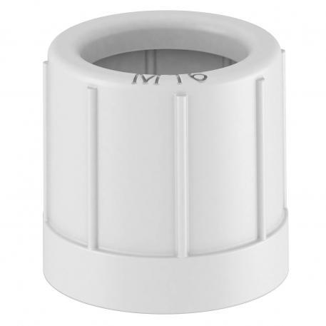 Pipe end cap, metric, lightgrey