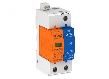 Combination arrestor V25, 1-pole + NPE 280 V with remote signalling