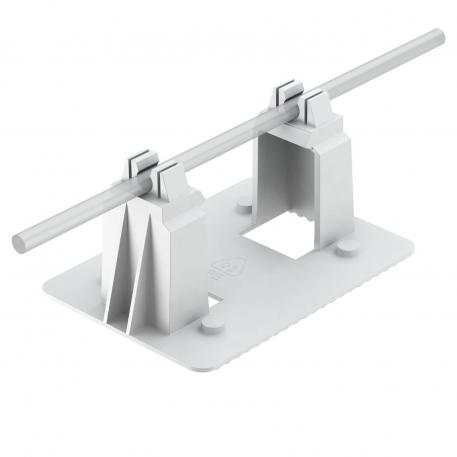 Roof conductor holder, for plastic film roofs