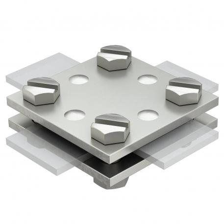Cross-connector flat/flat without adapter plate A4