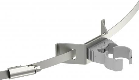 PA cable bracket with tightening strap