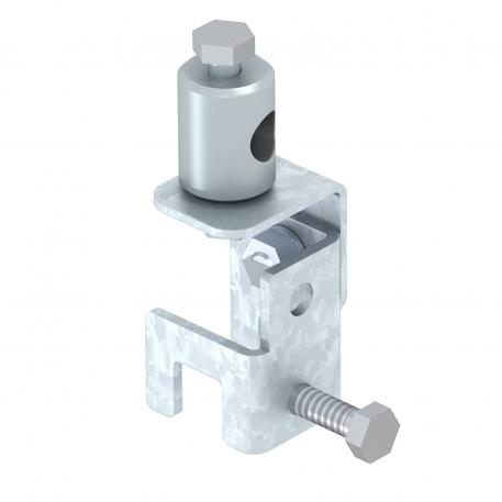 Folding clamp for seaming sheet up to 20 mm thickness