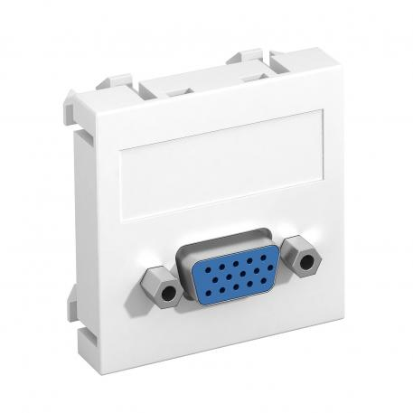 VGA connection, 1 module, straight outlet, as screw connection