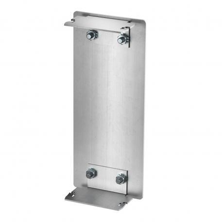 End piece aluminium, trunking height 70 mm