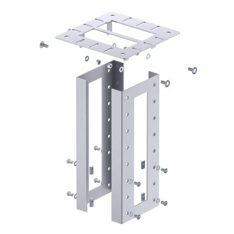 Ceiling fastening for service poles