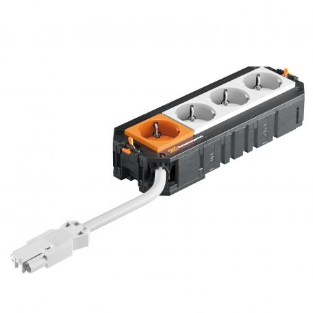 UTC4 with 3+1 protective contact sockets, 1 socket with surge protection