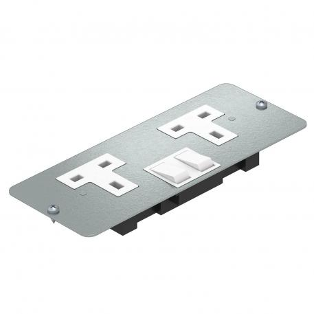 Cover plate APMT5 with double socket
