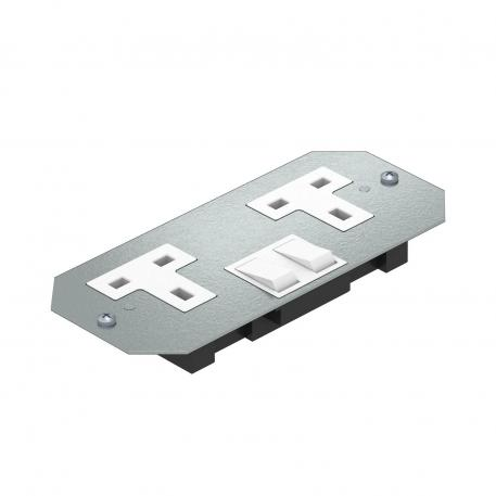 Cover plate APMT2 with double socket