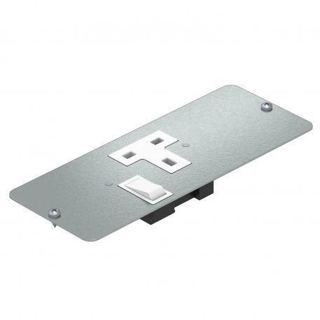 Cover plate APMT5 with single socket