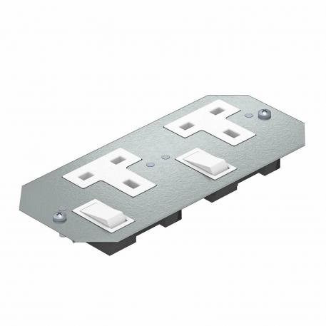 Cover plate APMT2 with two single sockets