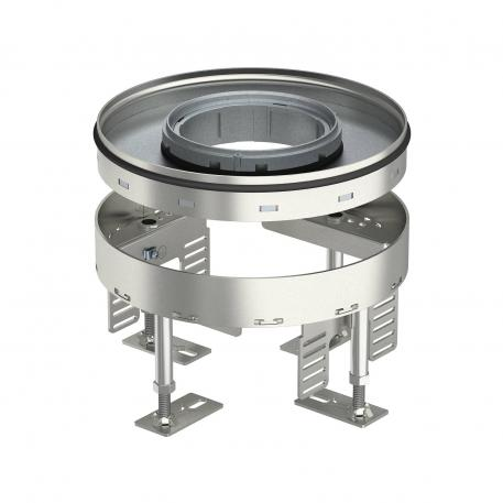 Height-adjustable heavy-duty cassette for tube body RKFRSL, nominal size R4, stainless steel