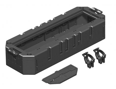 Module support with protective housing for Modul 45® devices, system length 208 mm